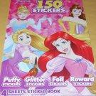 Disney Princess Stickers - 4 Designs
