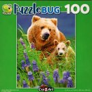 Grizzly Bear Mama and Cub - Puzzlebug - 100 Piece Jigsaw Puzzle