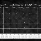 2020-2021 Monthly Magnetic/Desk Calendar - 16 Months - (Edition #17) - Black and White