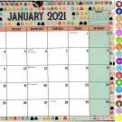 2021 Monthly Calendar - 12 Months Spiral Wall Calendar/Planner + Bonus (Edition #02)