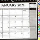 2021 Monthly Calendar - 12 Months Spiral Wall Calendar/Planner + Bonus (Edition #04)