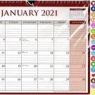 2021 Monthly Calendar - 12 Months Spiral Wall Calendar/Planner + Bonus (Edition #05)