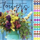 2021 16 Month Wall Calendar - Flowers - with 100 Reminder Stickers