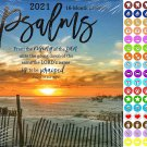 2021 16 Month Wall Calendar - Psalms - with 100 Reminder Stickers