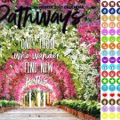 2021 16 Month Wall Calendar - Pathways - with 100 Reminder Stickers