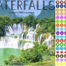 2021 16 Month Wall Calendar - Waterfalls - with 100 Reminder Stickers