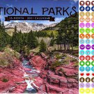 2021 16 Month Wall Calendar - National Parks - with 100 Reminder Stickers