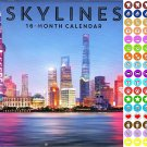 2021 16 Month Wall Calendar - Skylines - with 100 Reminder Stickers
