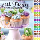 2021 16 Month Wall Calendar - Sweet Treats - with 100 Reminder Stickers