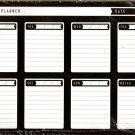 "Desk Pad Weekly Planner Calendar 11.75"" X 8.25"" - v1"
