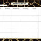 "Desk Pad Magnetic Monthly Planner Calendar 11.7"" X 8.25"" - v2"