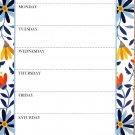 "Desk Pad Weekly Planner Calendar 8.75"" X 5.5"" - v1"