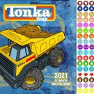 Tonka - 16 Month 2021 Wall Calendar - with 100 Reminder Stickers