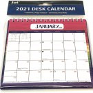 2021 Monthly Standing Desk Calendar Pink with Stripes