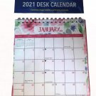 2021 Monthly Standing Desk Calendar Floral Border