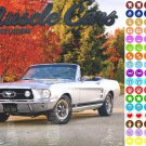 2021 16 Month Wall Calendar - Muscle Cars - with 100 Reminder Stickers