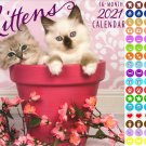 2021 16 Month Wall Calendar - Kittens - with 100 Reminder Stickers