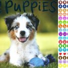 2021 16 Month Wall Calendar - Puppies - with 100 Reminder Stickers