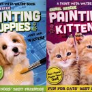 A Paint with Water - Animal Rescue Painting Kittens and Painting Puppies - Set of 2 Coloring Book