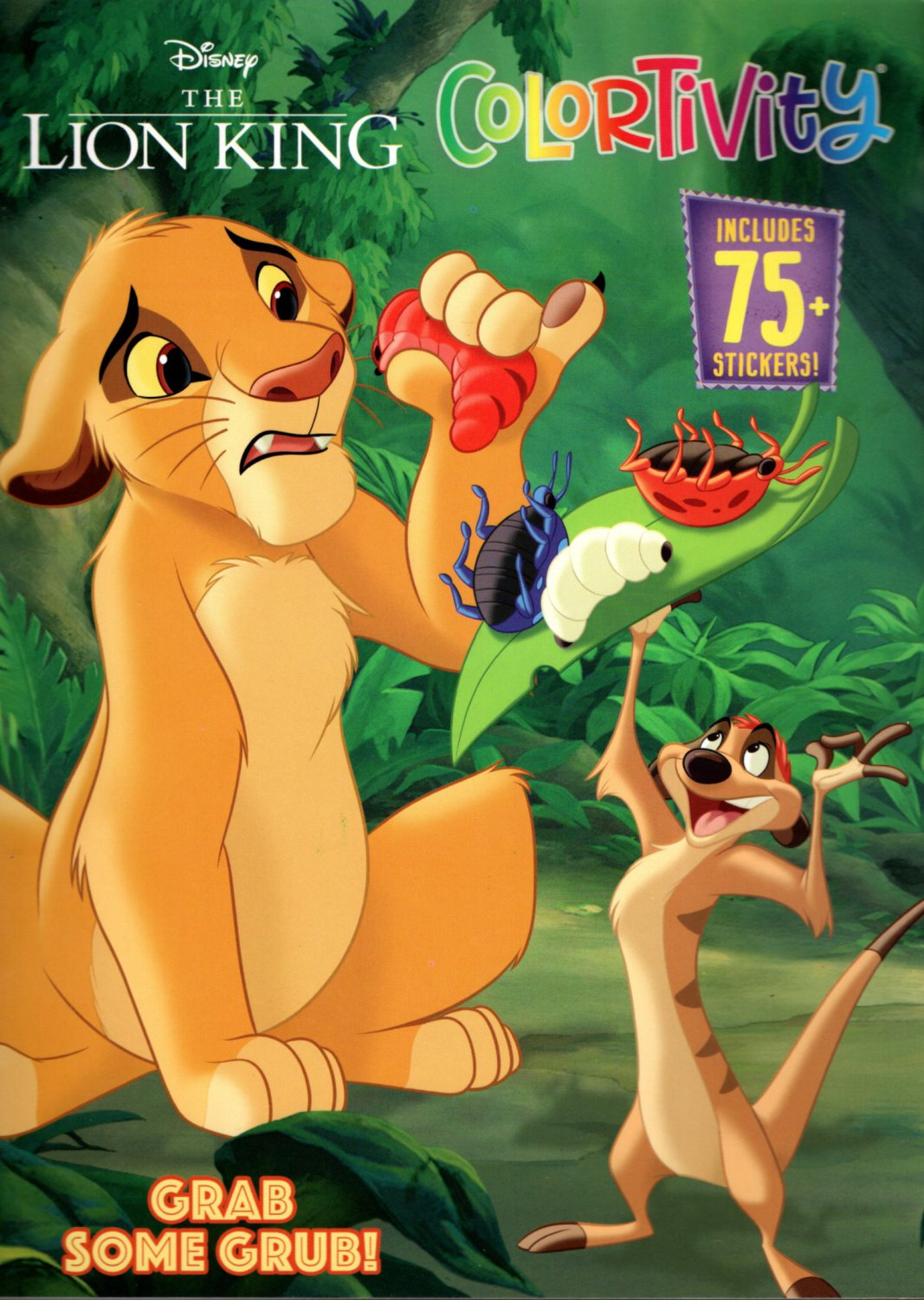 Colortivity Disney The Lion King - Grab Some Grub Coloring & Activity Book - Includes 75 Sticers