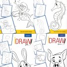 iDraw - Learn to Draw Instructional Step-by-Step Tutorial Books - (Set of 4 Books)