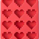 Wilton Rosanna Pansino Silicone 8 16 Bit Heart Mold, Assorted