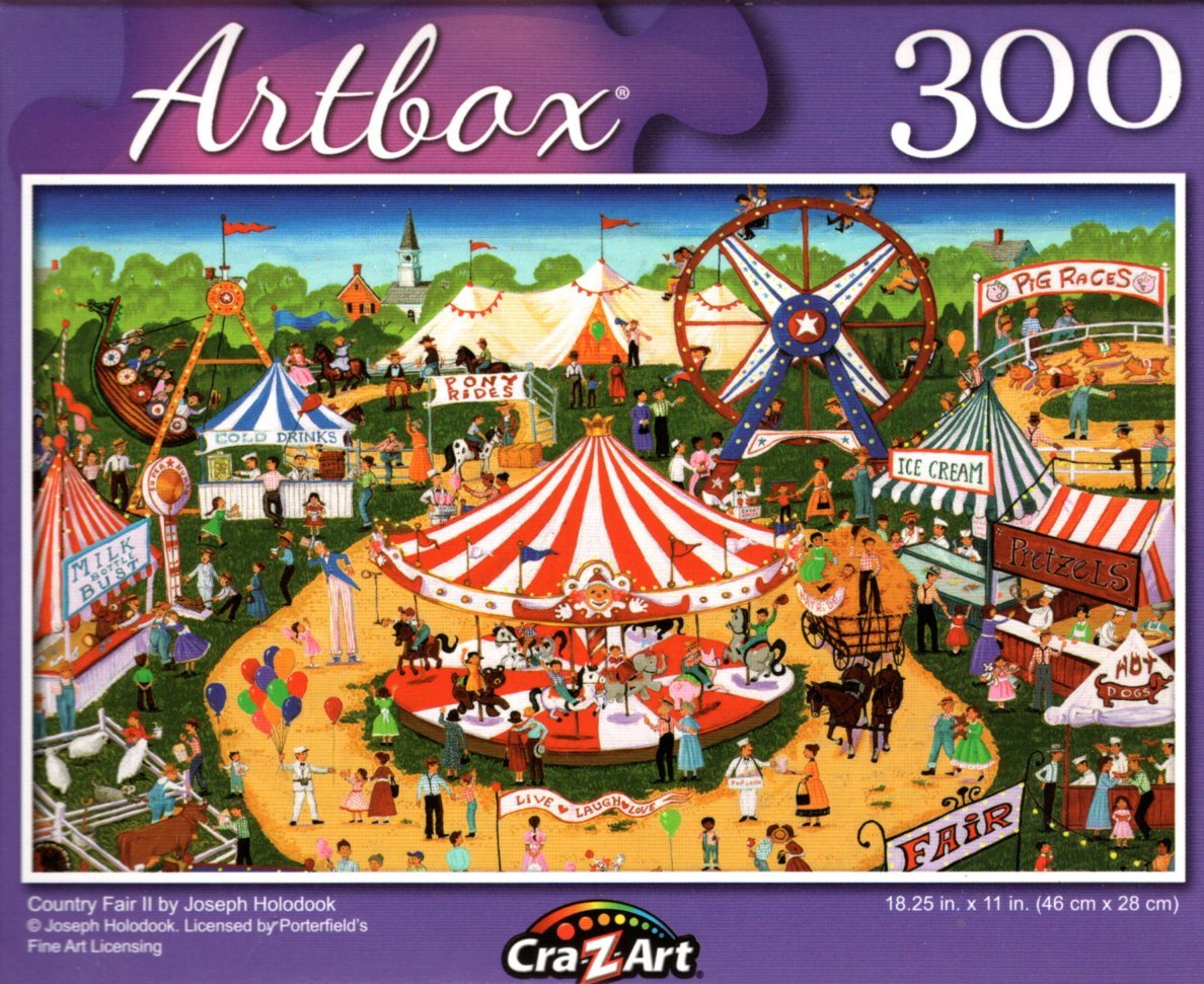 Country Fair II by Joseph Holodook - 300 Pieces Jigsaw Puzzle