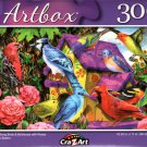 Colorful Song Birds & Birdhouse with Roses by Sergio Botero - 300 Pieces Jigsaw Puzzle