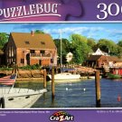 Boats and Houses on Kennebunkport River Shore, MA - 300 Pieces Jigsaw Puzzle