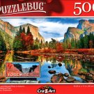 EL Capitan and Merced River in Autumn, Yosemite National Park - 500 Pieces Jigsaw Puzzle