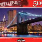 Brooklyn Bridge Over The East River, NYC - 500 Pieces Jigsaw Puzzle