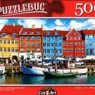 Nyhavn Canal, Copenhagen, Denmark - 500 Pieces Jigsaw Puzzle
