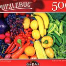 Rainbow Fruits and Veggies - 500 Pieces Jigsaw Puzzle