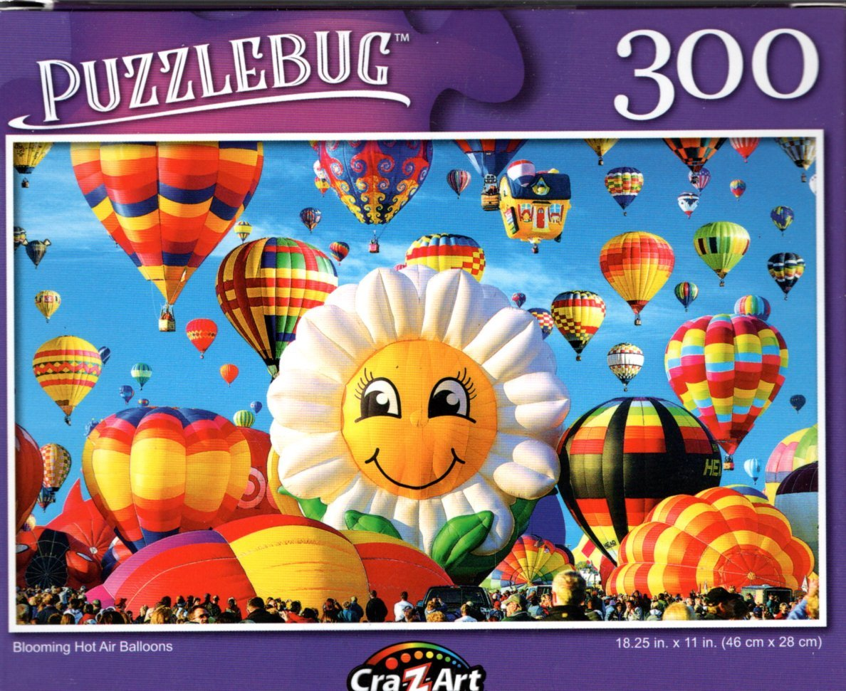 Blooming Hot Air Balloons - 300 Pieces Jigsaw Puzzle