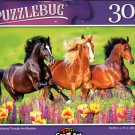 Horses Galloping Through The Meadow - 300 Pieces Jigsaw Puzzle