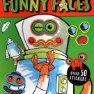 Funny Faces - Coloring Book - Over 50 Stickers - Robots
