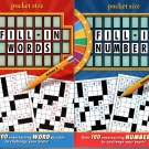 Fill in Numbers and Fill in Words - Over 100 New Puzzles (Pocket Size) - Vol. 2 (Set of 2 Books)