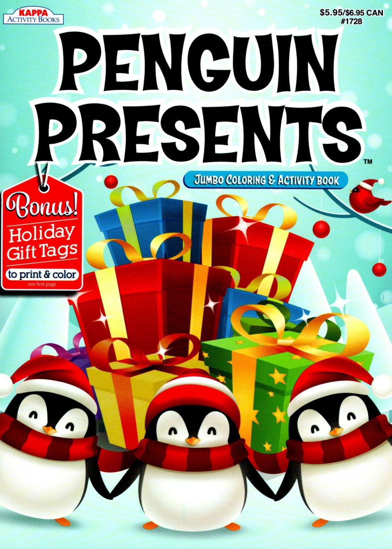 Kappa Books Christmas Edition Holiday Jumbo Coloring and Activity Book ~ Penguin Presents