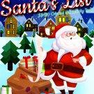 Kappa Books Christmas Edition Holiday Jumbo Coloring and Activity Book ~ Santa's List!
