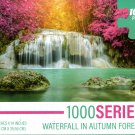 Waterfall in Autumn Forest - 1000 Pieces Jigsaw Puzzle