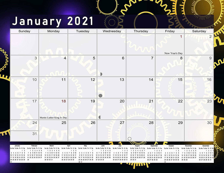 2021 Monthly Magnetic/Desk Calendar - 12 Months Desktop/Wall Calendar/Planner - (Edition #09)