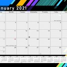 2021 Monthly Magnetic/Desk Calendar - 12 Months Desktop/Wall Calendar/Planner - (Edition #13)