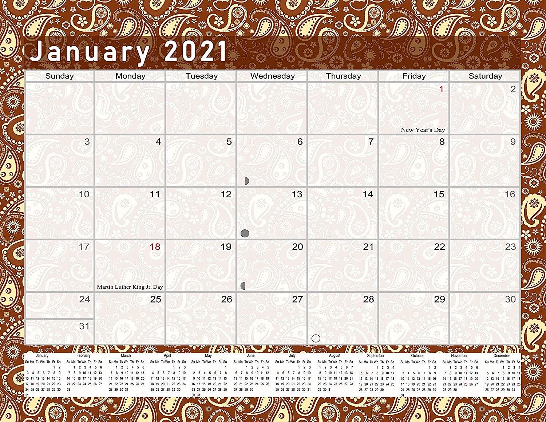 2021 Monthly Magnetic/Desk Calendar - 12 Months Desktop/Wall Calendar/Planner - (Edition #20)