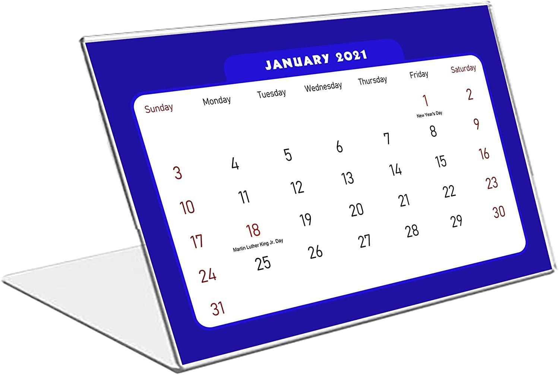 2021 Standing Desk Calendar 12 Months Calendar/Planner/ (Edition #06)