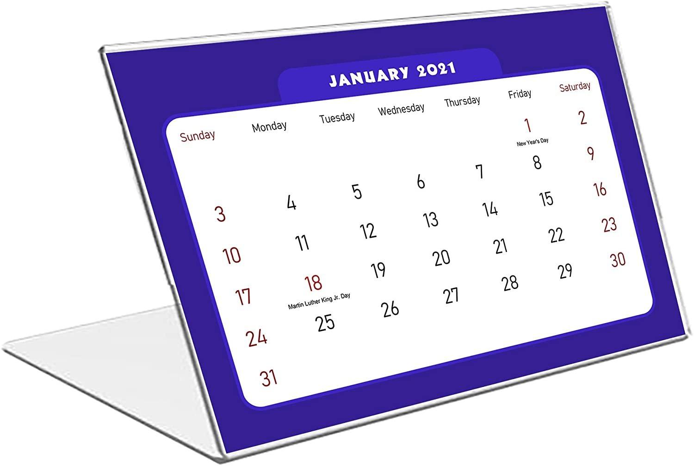 2021 Standing Desk Calendar 12 Months Calendar/Planner/ (Edition #07)