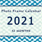 2021 Photo Frame Wall Spiral-Bound Calendar (Add Your Own Photos) - (Geometrics Edition #004)
