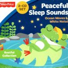 Fisher Price Peaceful Sleep Sounds Ocean Waves White Noise - 2 CD Set for Kids
