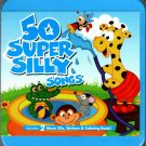 50 Super Silly Songs (2 CDs, Stickers & Coloring Book) CD for Kids
