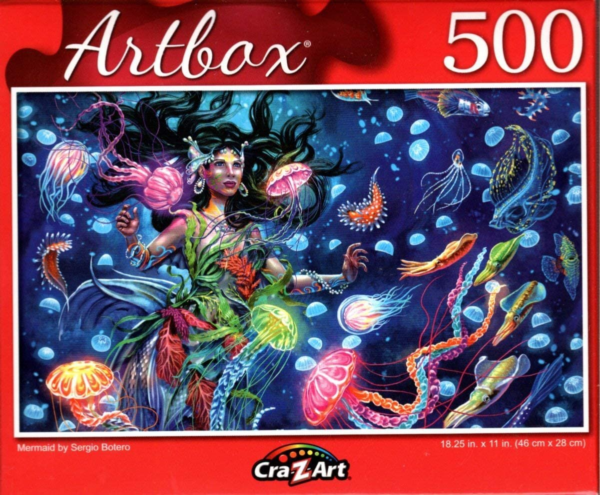 Mermaid by Sergio Botero - 500 Pieces Jigsaw Puzzle