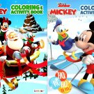 Disney Junior Mickey - Christmas Edition Holiday - Coloring & Activity Book - (Set of 2 Books)